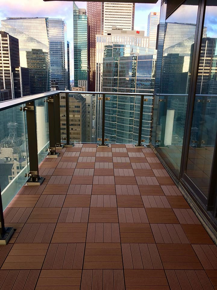 balcony composite flooring tiles