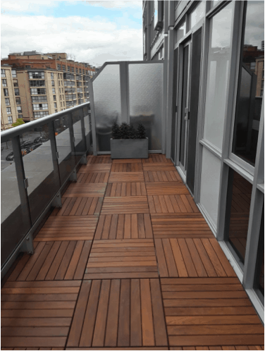 balcony wood paver