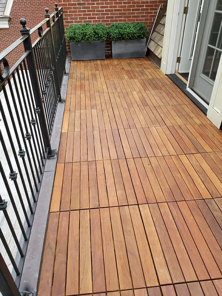 Ipe Hardwood Pavers for Outdoor Flooring Installation