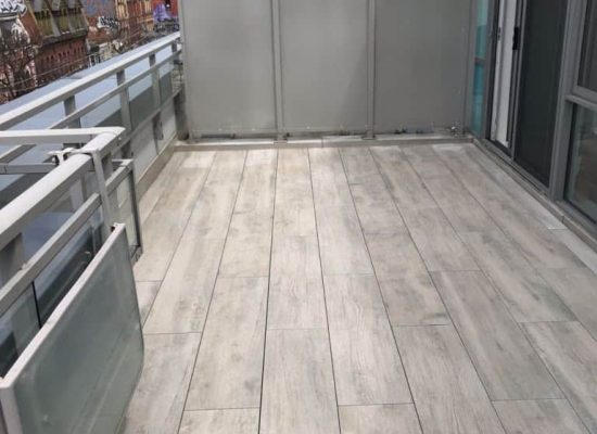 1 by 4 ft Porcelain Tiles staggered Insta8