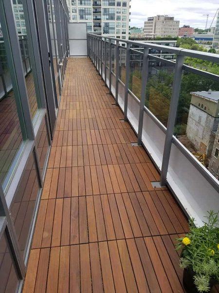 Balcony With New Flooring