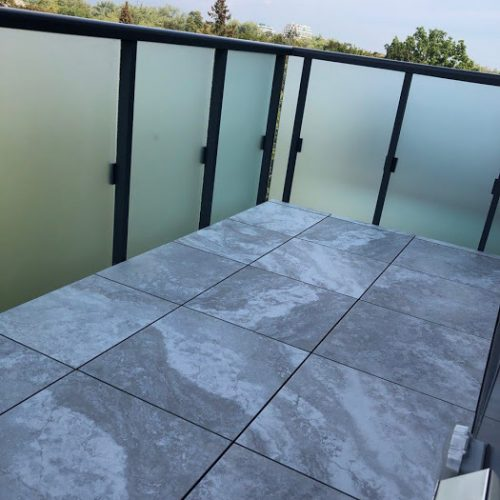 porcelain pavers in balcony after photo
