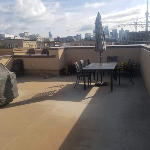 patio terrace in condo before installation